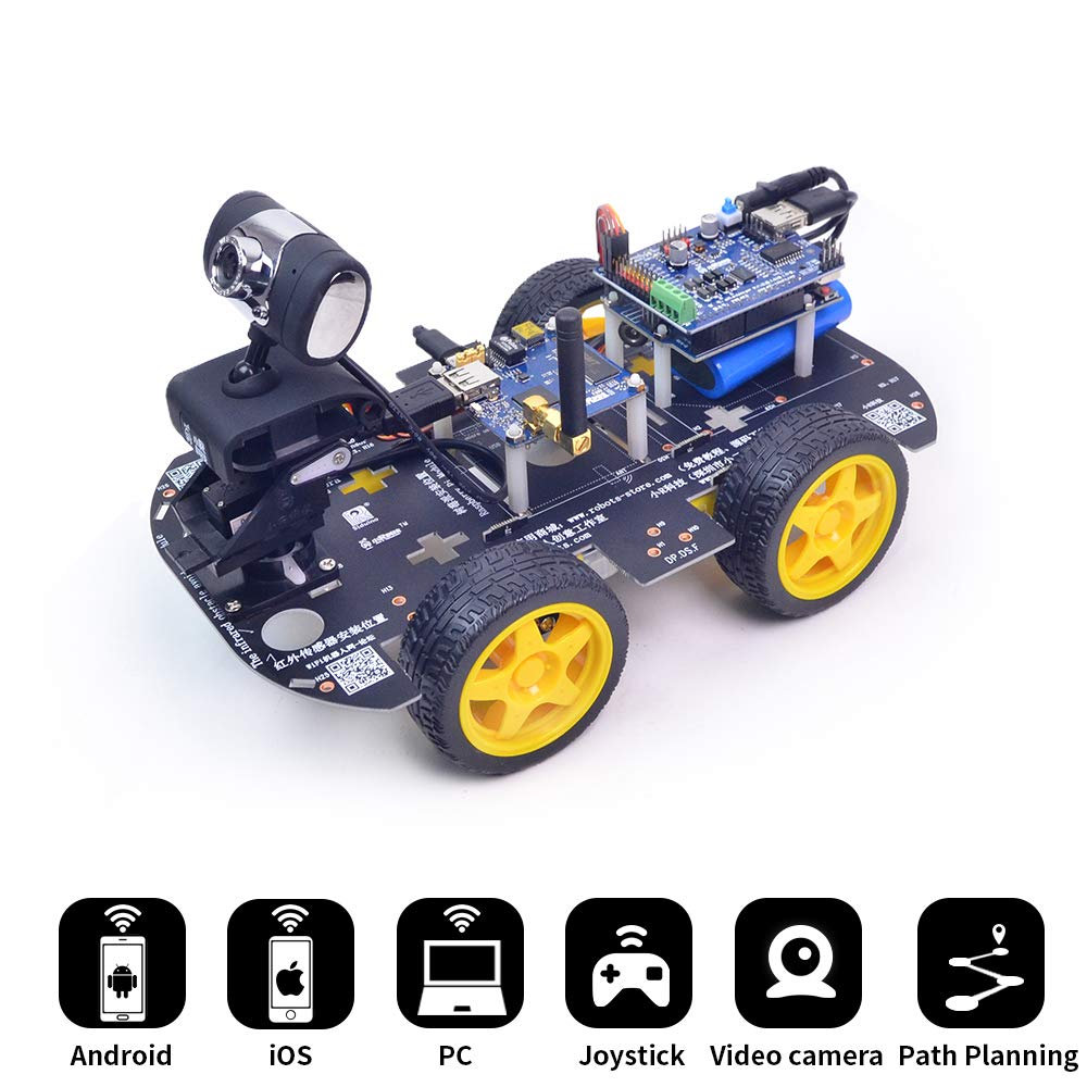Deal║For Arduino WiFi Bluetooth Video Car DIY Tracking Obstacle Avoidant UNO Mi Siqi Mixly