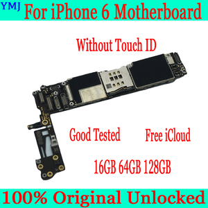 Image 2 - Avec/sans identification tactile pour iphone 6 carte mère + gratuit iCloud,Original débloqué pour iphone 6 carte mère 16GB 64GB 128GB