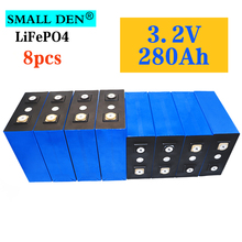 8pcs 3.2V 280Ah lifepo4 battery DIY 12V 24V 280000mAh Rechargeable battery pack for Electric car RV Solar Energy storage system