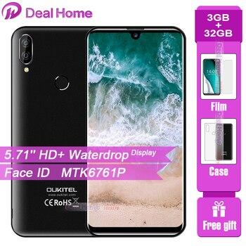 Перейти на Алиэкспресс и купить Oukitel C16 Pro 5,71 дюймводонепроницаемый экран смартфон 3 ГБ 32 ГБ MTK6761P четырехъядерный распознавание лица отпечаток пальца 2600 мАч 4G LTE мобильный телеф...