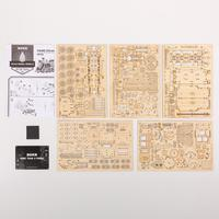 Robotime Train modèle 3D à assembler Puzzle en bois locomotive modèle kits de construction 8