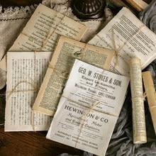 10 unids/lote Vintage diario de gran tamaño retro material papeles scrapbooking DIY álbum diario planificador feliz regalo de papel decorativo