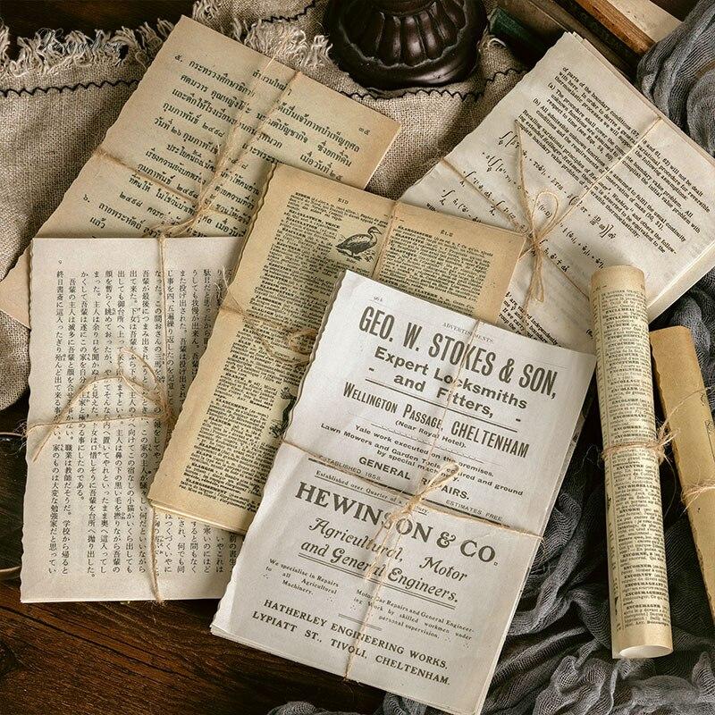 Papier de scrapbooking, papier décoratif Vintage pour journal poubelle de grande taille, en matériau rétro, bricolage, album agenda joyeux planificateur, cadeau