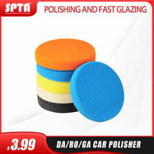 SPTA 3.5Inch(90mm)/5.5Inch(135mm)/6.5Inches(165mm) Buffing Pads Polishing Pads For 3Inch/5Inch/6Inch DA/RO/GA Car Polisher