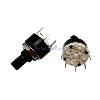 2pcs SR16 Plastic 16MM Rotary Band switch 2 Pole 3 4 position Band Switch Handle Length 15MM Axis image