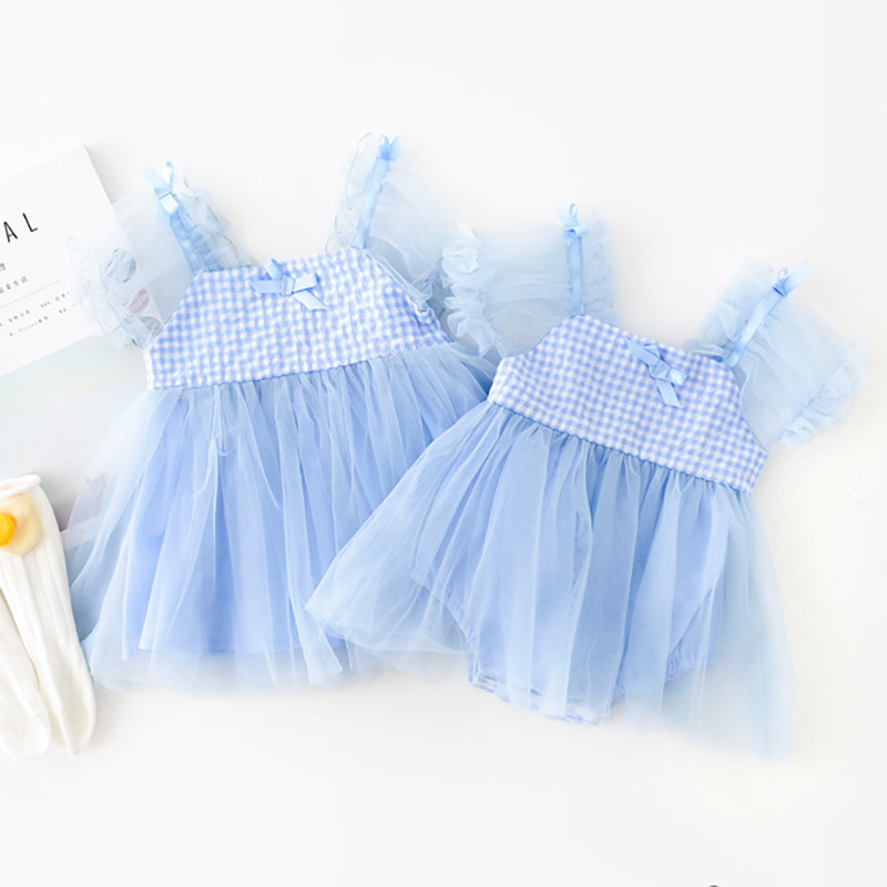 MILANCEL Baby Clothiing Set Princess Style Baby Dress Bodysuits Big Sister Lace Dress Little Sister Bodysuits