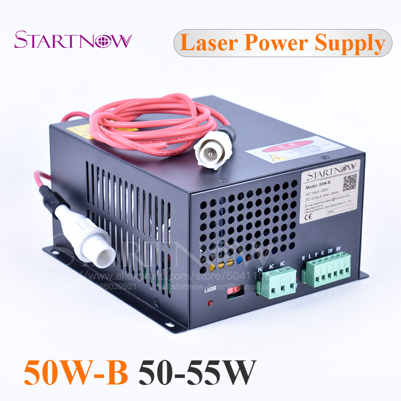 50W-B Co2 Laser Generator MYJG-50 Co2 Laser Source 45W High Voltage Laser Power Supply 50W For Laser Engraving Cutting Machine
