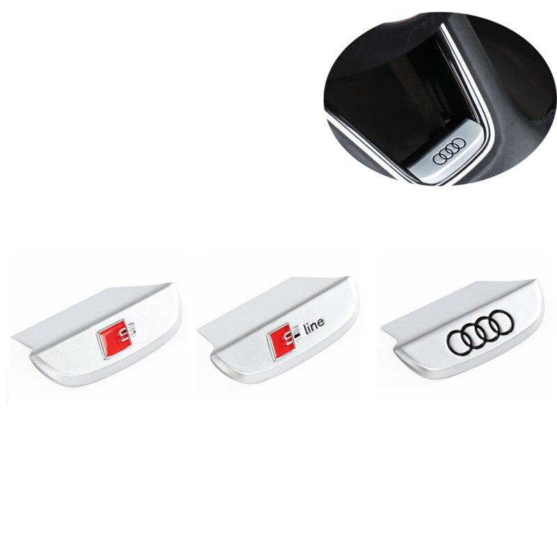 Zinc Alloy S Line Sticker Car Steering Wheel Cover Sticker For Audi A3/A4L/A6L/Q3/Q5/A5