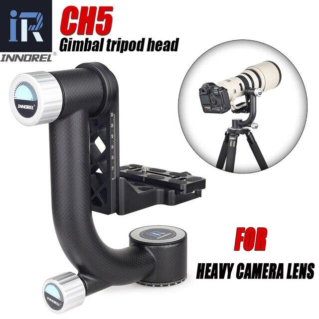 INNOREL CH5 المهنية Gimbal رئيس ناتئ ترايبود رئيس 360 درجة عالية التغطية بانورامية لعدسة كاميرا رقمية ثقيلة