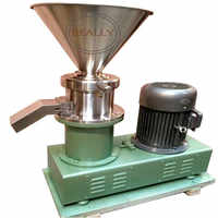 700-6000kg/h New type big power superfine grinder food colloid mill for grinding chili sauce peanut butter