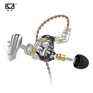 Image 5 - KZ ZSX Metal Earphones 5BA+1DD Hybrid technology 12 driver HIFI Bass Earbuds In Ear Monitor Earphones Noise Cancelling Headset