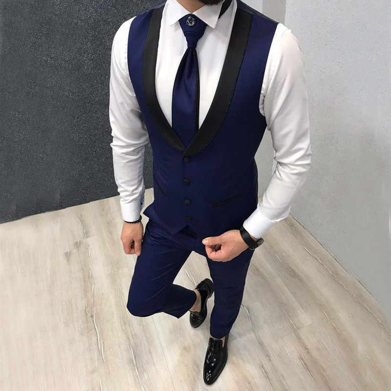 W nowym stylu mężczyzna trzyczęściowy zestaw garnitur spodnie garnitur kamizelka dorywczo mały garnitur wybieralna koszula formalna okazja ślubna