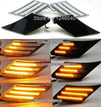 2PCS LED Dynamic Side Marker Turn Signal Indicator Repeater Light Flowing Flash For Toyota FT86 Scion FR S Subaru BRZ