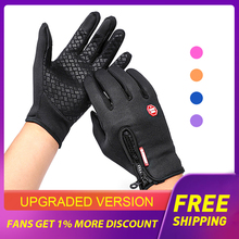 Cycling-Gloves Touchscreen Motorcycle Waterproof Outdoor Sport Winter for Men Anti-Silp