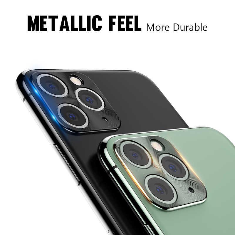 金属合金カメラレンズ保護リング Iphone 5 11 プロ最大 2019 Iphone 用強化ガラス XR X XS 最大電話バックプロテクター