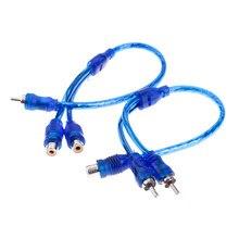 Cabo de áudio 1 macho para 2 fêmea/1 fêmea rca 2 adaptador macho cabo divisor de fio estéreo conector de sinal de áudio