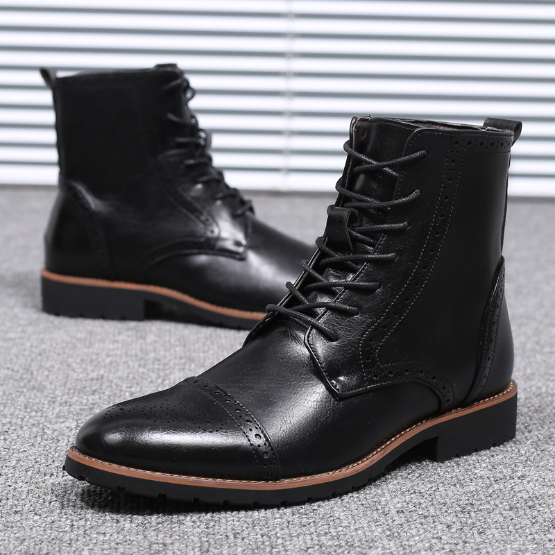 38-48 Men Leather Boots Brand Comfortable Fashion 2019 Casual Boots #SY862