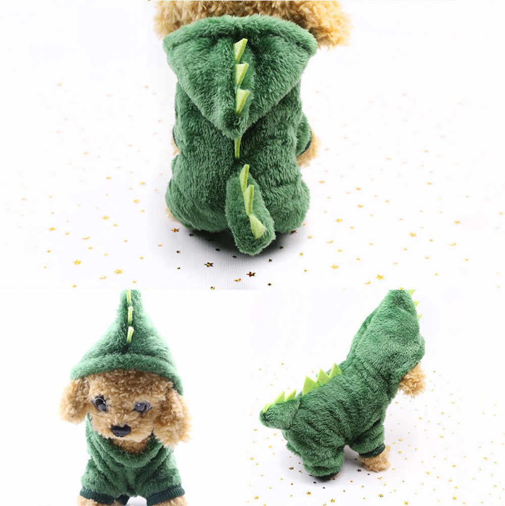 恐竜変容コートドレスコスチュームアパレル小型犬フレンチブルドッグフランネルペット服犬猫かわいい