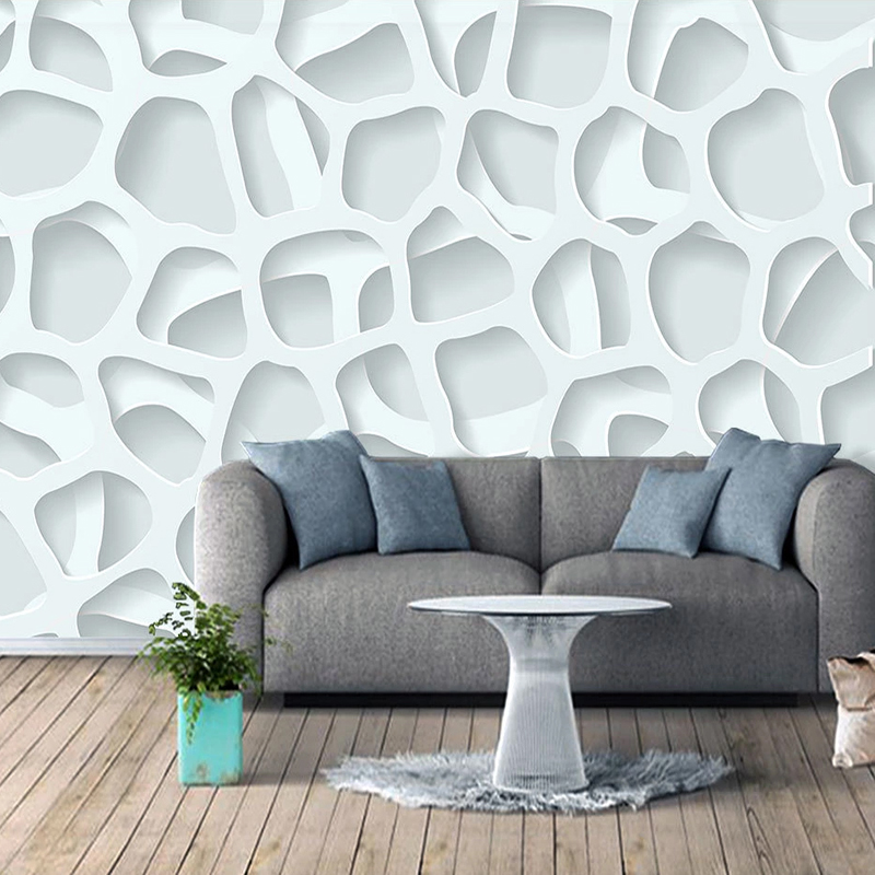 Custom Any Size Photo Wallpaper Modern 3D Stereoscopic Abstract Geometric Living Room Sofa TV Background Mural Papel De Parede