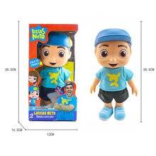 Boneca luccas de pvc neto 25cm, brinquedos, modelo de vinil, figura de ação, crianças, presente de natal, come com caixa