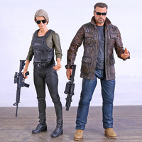 NECA 7'' Terminator 6 Dark Fate T 800 / Sarah Conner PVC Action Figure Joint Movable Model Toy