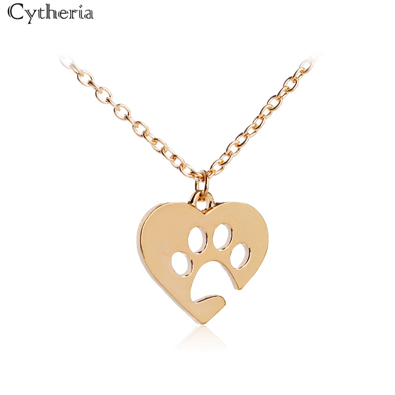 Dog Paw Necklace Puppy Dog Necklaces 925 Sterling Silver Dog Mom Necklace Paw Print Dog Pendant Necklace for Women,Forever Love Heart Memorial Necklace for Pet Lover