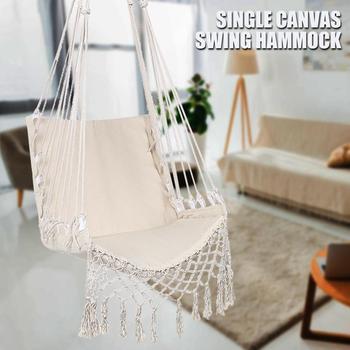 Белые Висячие наружные гамаки в скандинавском стиле для отдыха в помещении, для сада, спальни, качающийся гамак