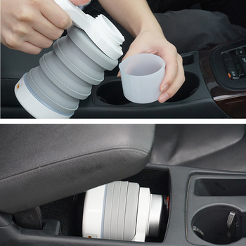 550ml 12V Car Foldable Electric Kettle Car Boiling Cup Water Heater Car Heating Portable Self-Driving Travel Car Electronics car electric kettle 304 stainless steel abs insulation anti scald car travel coffee pot tea heater boiling water