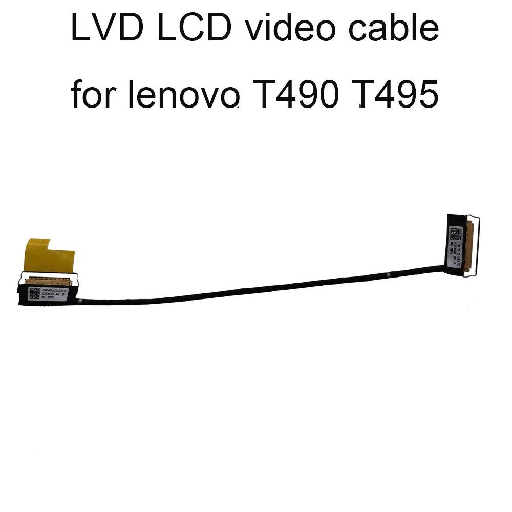 Conectores t490s lcd lvds cabo de vídeo para lenovo thinkpad t 490 495 toque edp lcd novo 02hk989 dc02c00dz20 01yt382 02dm373 40 pinos