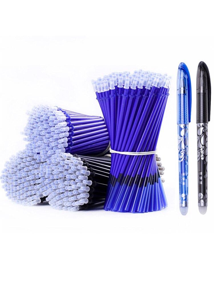 Erasable-Pen Stationery Refill-Set Ink Office Black School Writing 53pcs/Lot
