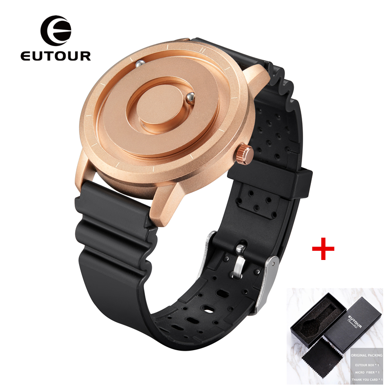 Image 4 - EUTOUR New Innovative Blue Gold Magnetic Metal Multifunctional Watch Men's Fashion Sports Quartz Watch Simple Men's Watch-in Quartz Watches from Watches