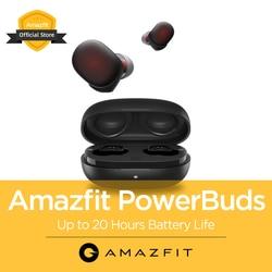 Новинка 2020 Amazfit PowerBuds TWS наушники беспроводные наушники в ухо IP55 монитор сердечного ритма Bluetooth для iOS Android телефон