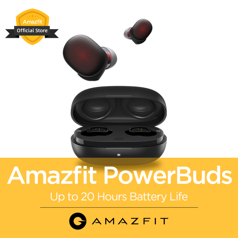 2020 New Amazfit PowerBuds TWS Headphones Wireless In-Ear Earphones IP55 Heart Rate Monitor Bluetooth For IOS Android Phone