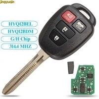 Jingyuqin 원격 제어 자동차 키 G/H 칩 314.4Mhz 도요타 캠리 Corolla 2012-2017 HYQ12BEL/HYQ12BDM 키 Fob