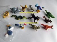 small pvc figure assemble toy girraffe horse cock and so on 100pcs/set for eggs toy