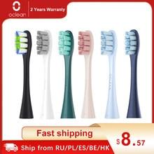 Oclean x pro/x/zi/f1/ar 2/um 2 cabeças de escova de substituição dos pces para cabeças de escova de dentes de limpeza profunda elétrica