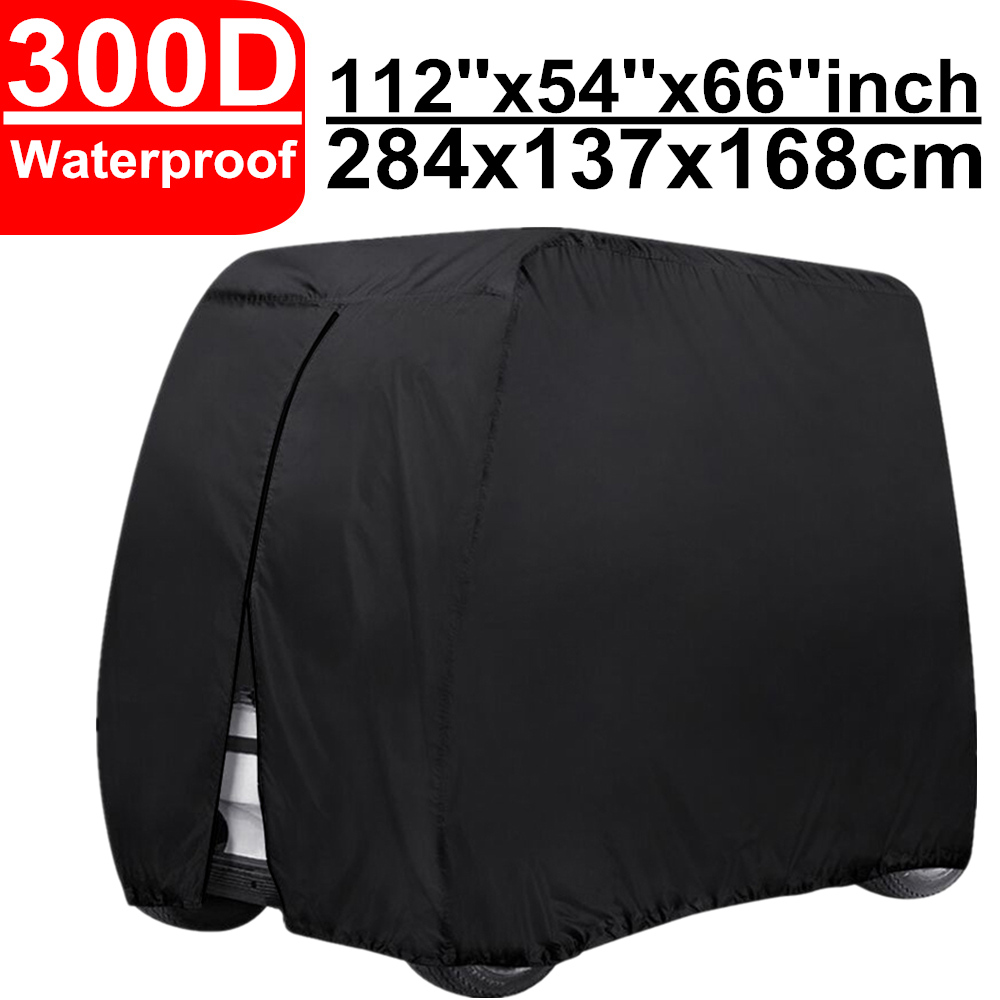 300D 112 Golf Club Car Cart Cover Waterproof Windproof Sun UV Dust Quad ATV Vehicle Scooter Covers For Yamaha YDR Cruise EZ GO