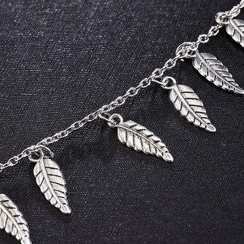 Silver Color Leaf Chain Anklet Bracelet Barefoot Sandal Beach Foot Jewelry Bohemian Gold Color Chain Ankle Bracelet on The Leg 3