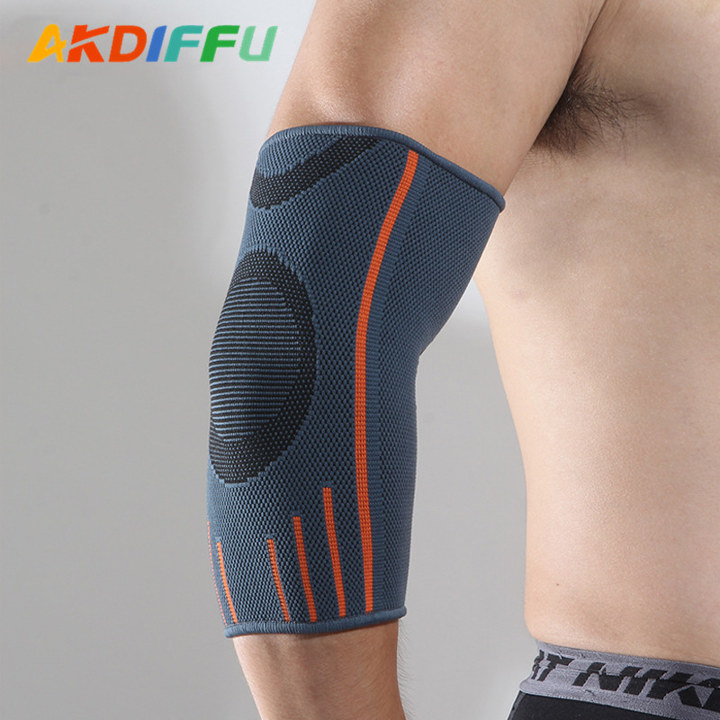 Aike Diffie 4001 # Knitted Elbow Pads Thick Anticollision Basketball Arm Guard Football Volleyball Roller Skating Protection