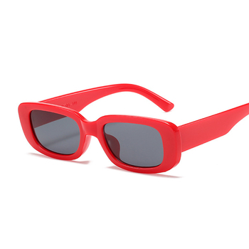 2021 Square Sunglasses Women Luxury Brand Travel Small Rectangle Sun Glasses Female Vintage Retro Oculos Lunette De Soleil Femme - Red Gray