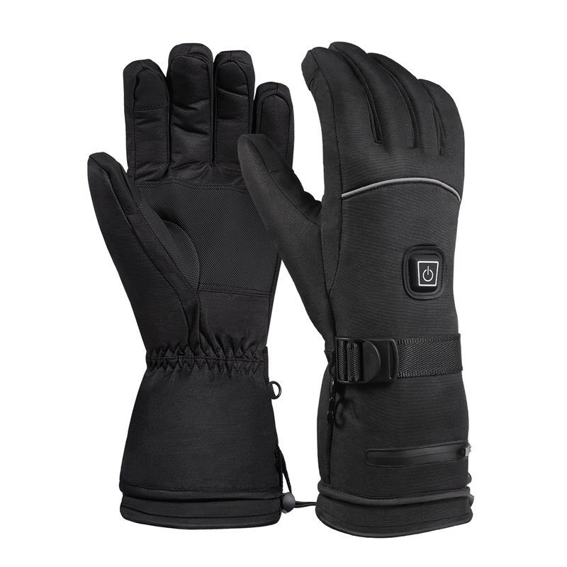 Winter Outdoor Sports Rechargeable Battery Heating Gloves Three-Speed Thermostat Waterproof Increase Long Warm Heating Gloves