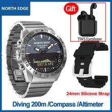 [Es] Originele Noord Rand Heren Digitale Sport Horloge Duiken Waterdicht 200M Kompas Hoogtemeter Barometer Quartz Gavia smart Horloge