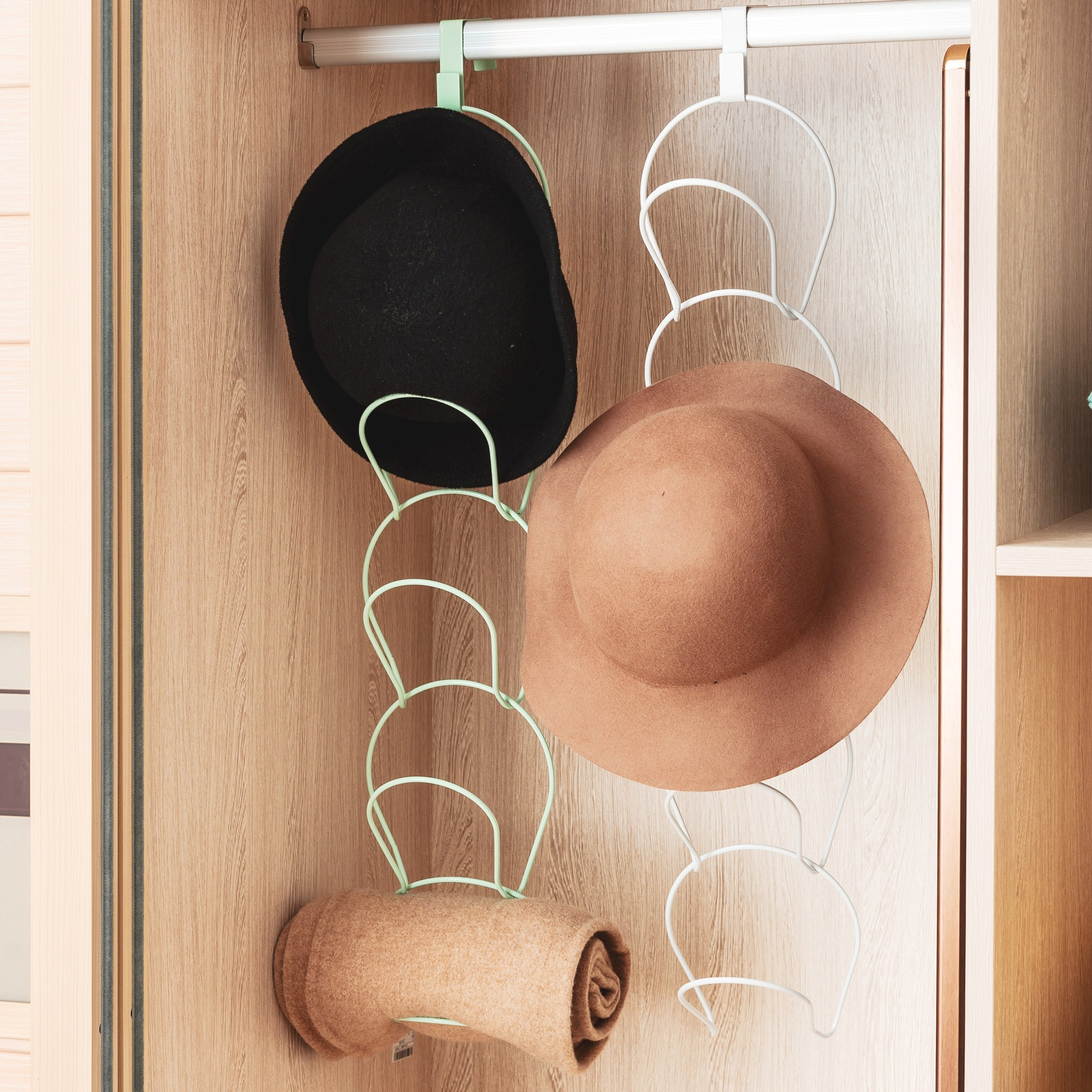 Cap Rack Hat Organizer 5 Pack Door Hanger Hook For Caps,Clothes,Towel,Kitchen,Baseball Cap Multifunctional Door/Wall Mounted