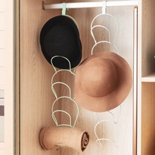 Cap Rack Hat Organizer 5 Pack wieszak na drzwi haczyk na czapki ubrania ręcznik kuchnia czapka z daszkiem wielofunkcyjne drzwi naścienne tanie tanio iron black white