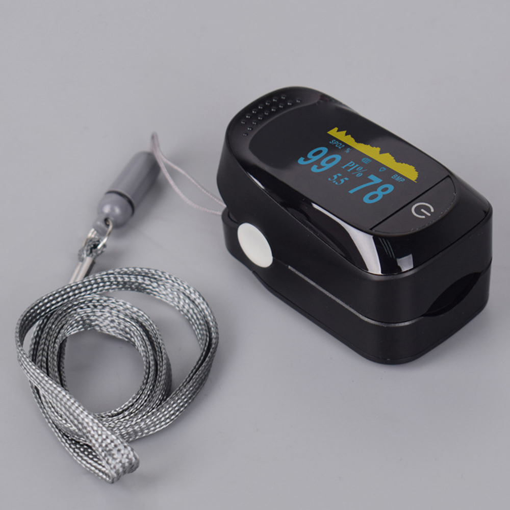 2020 New Digital Fingertip Heart Rate Pulse Oximeter OLED Blood Oxygen Monitor Meter SPO2 Saturation Oximeter Tool Set