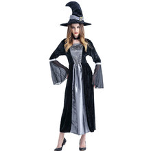 DM COS  Halloween Witch Costume Vampire Zombie Demon Queen Dress Up Masquerade Cosplay Costumes Womens Festive