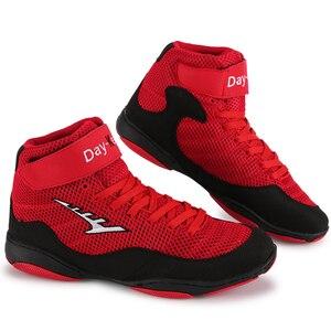 Zapatos de lucha de boxeo calzado deportivo de combate transpirable de goma para entrenamiento profesional de fitness, talla 33-44