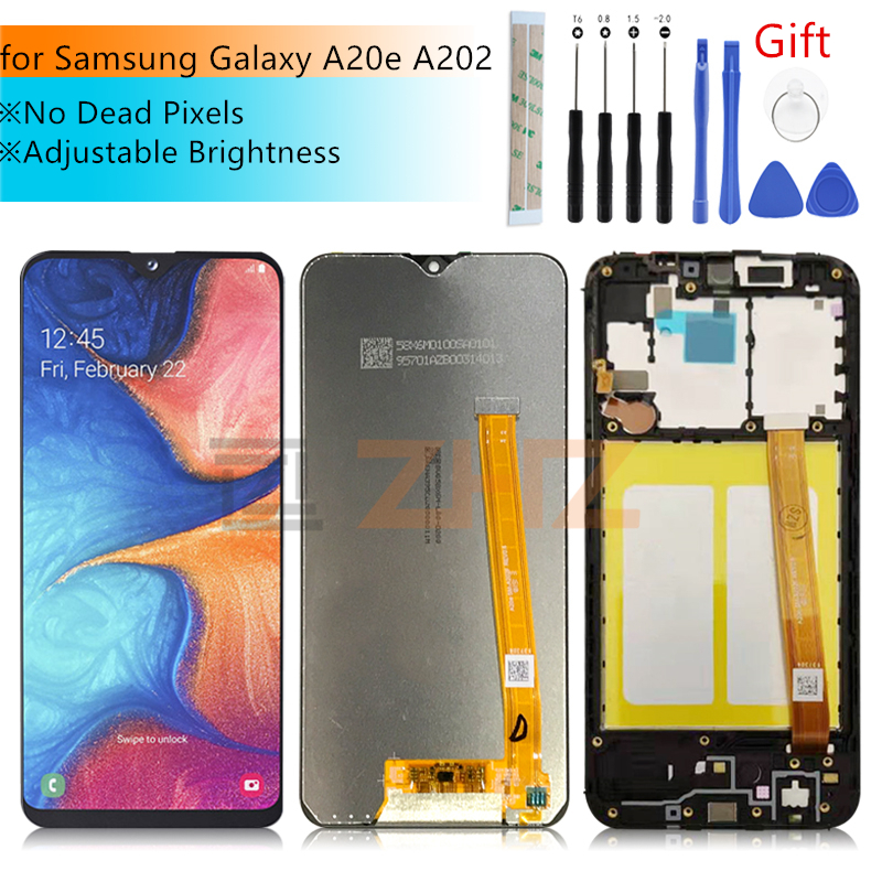 For <font><b>Samsung</b></font> <font><b>Galaxy</b></font> <font><b>A20e</b></font> <font><b>LCD</b></font> Display A202 2019 Touch <font><b>Screen</b></font> Digitizer Assembly SM-A202F/DS <font><b>screen</b></font> replacement Repair parts image