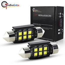 Gtinthebox c5w lâmpadas led canbus 28mm 31mm 36mm 39mm 41mm festão luz com lâmpada de abóbada auto placa de licença interior do carro lâmpada 12v