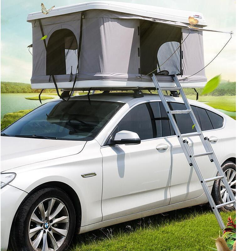 Roof Tent ABS Hard Roof Waterproof Sunscreen Hydraulic Semi-automatic Camping Roof Tent